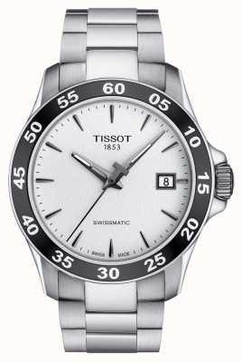 Tissot Heren v8 swissmatic zilveren wijzerplaat roestvrij stalen armband T1064071103100