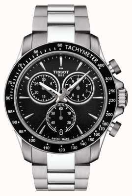 Tissot Heren v8 quartz chronograaf roestvrij stalen zwarte wijzerplaat T1064171105100