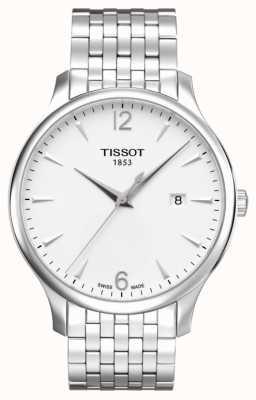 Tissot Herenradiator roestvrij stalen armband met zilverkleurige wijzerplaat T0636101103700