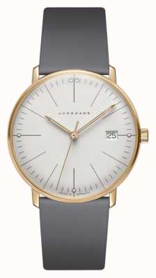 Junghans Max bill damen quartz | grijze band 047/7853.04