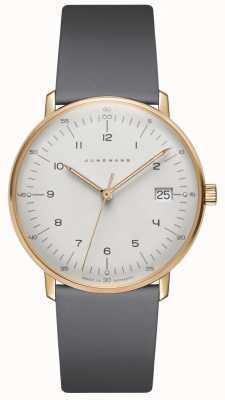 Junghans Max. Bill damen quartz grijs lederen horloge 047/7854.04