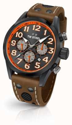 TW Steel Coronel dakar limited edition bruin lederen band zwarte wijzerplaat TW975