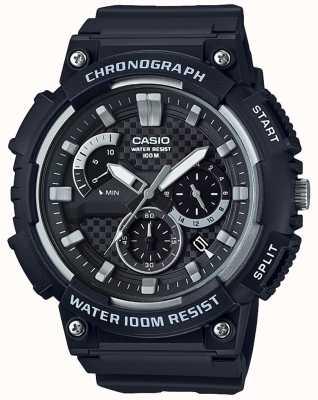 Casio Chronograaf zwarte harsbehuizing zwarte harsriem datumweergave MCW-200H-1AVEF