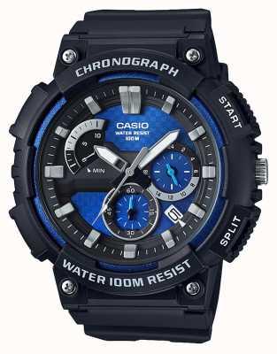 Casio Chronograaf zwarte harsbehuizing zwarte harsriem datumweergave MCW-200H-2AVEF