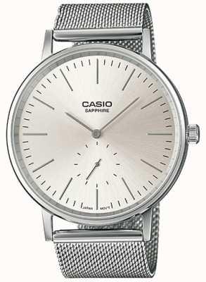 Casio Saffier roestvrij stalen mesh armband LTP-E148M-7AEF