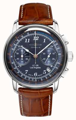Zeppelin | lz126 | los angeles | blauwe chronograaf | 7614-3