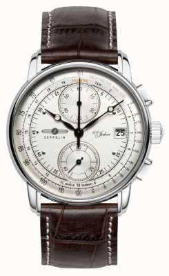 Zeppelin | serie 100 jaar | editie 1 | crème chronograaf datum | 8670-1
