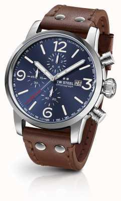 TW Steel Maverick calibre chronograaf donkerblauwe sunray wijzerplaat MS104