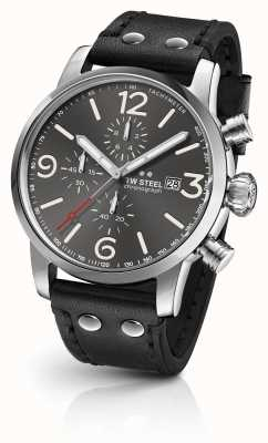 TW Steel Maverick calibre chronograph donkergrijs sunray wijzerplaat MS93