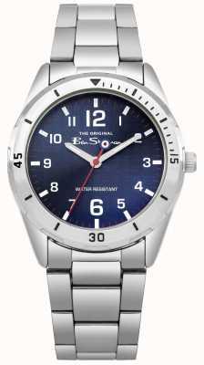 Ben Sherman Cadeauset voor kinderen in blauwe portemonnee en horloge BSK002USM
