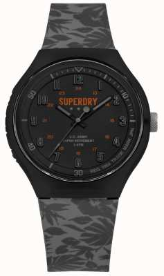 Superdry Stedelijke xl tropic camo grijze siliconen riem SYG225E