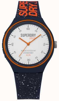 Superdry Urban xl fleck marine blauwe siliconen band SYG227U