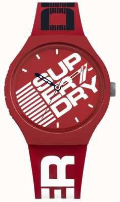 Superdry Urban xl straat rode siliconen band SYG226R