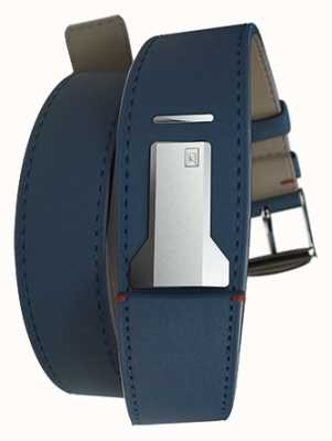 Klokers Klink 02 indigo blauwe dubbele riem slechts 22 mm breed 420 mm lang KLINK-02-420C3