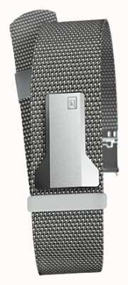 Klokers Klink 05 staalgrijze milano riem slechts 20 mm breed 230 mm lang KLINK-05-MC1