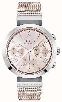 Hugo Boss Datum / datum sub-wijzerplaten chronograaf pink dial 1502426