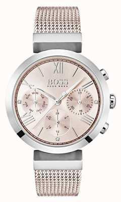 Boss Datum / datum sub-wijzerplaten chronograaf pink dial 1502426