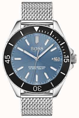 Hugo Boss Lichtblauwe wijzerplaat met oceaangaas en zwarte wijzerplaat 1513561