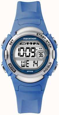 Timex Marathon digitale sporthorloge lichtblauwe riem TW5M14400