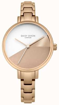 Daisy Dixon Dames ava rosé goud drie kleuren wijzerplaat rose gouden armband DD065RGM