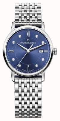Maurice Lacroix Womens eliros roestvrij stalen blauwe wijzerplaat EL1094-SS002-450-1