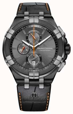 Maurice Lacroix Heren aikon chrono datum antraciet pvd kast AI1018-PVB01-334-1