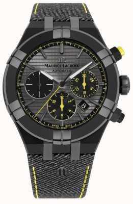 Maurice Lacroix Gelimiteerde editie aikon 'jaag je zwarte armband van je horloge' AI6018-PVB01-331-1