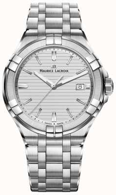 Maurice Lacroix Mens aikon roestvrij staal quartz zilveren wijzerplaat AI1008-SS002-131-1