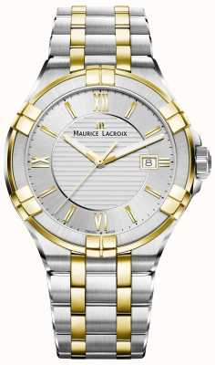 Maurice Lacroix Heren aikon tweekleurige armband verguld AI1008-PVY13-132-1