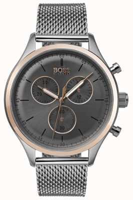 Hugo Boss Heren metgezel chronograaf horloge grijs 1513549