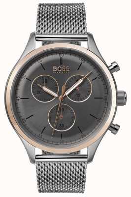 Boss Heren metgezel chronograaf horloge grijs 1513549