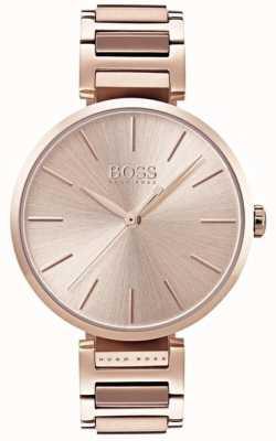 Hugo Boss Womens allusion horloge rose gouden kleur 1502418