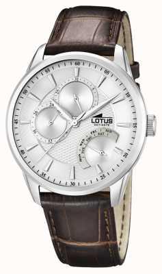 Lotus Multifunctionele lederen horlogeband voor heren 15974/1
