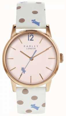 Radley Vintage dameshorloge voor dames dot pink RY2566