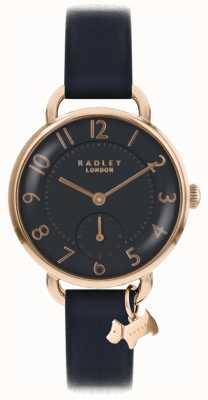 Radley Womens southwark park horloge zwart lederen band RY2548