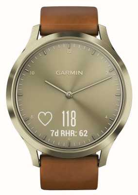 Garmin Vivomove h premium activity tracker goud / leer 010-01850-05