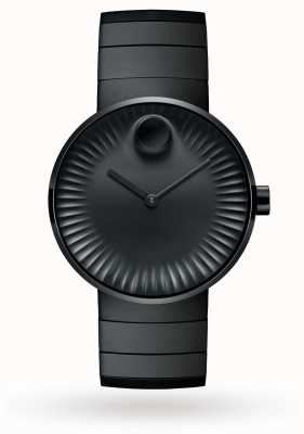 Movado Mens edge horloge zwart-ion plated staal 3680007