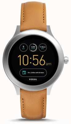Fossil Unisex q-venture generatie 3 smart watch bruin leer FTW6007