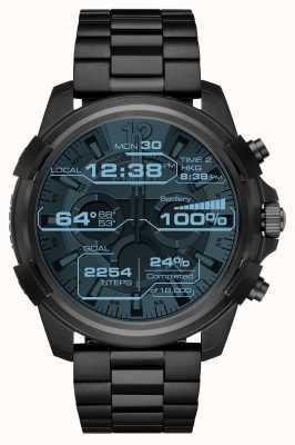 Diesel Mens volledige bewaker zwarte touchscreen ion plated smartwatch DZT2007