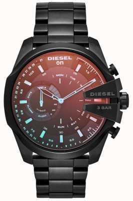 Diesel Mens megachief hybride smartwatch ijzer vergulde armband DZT1011