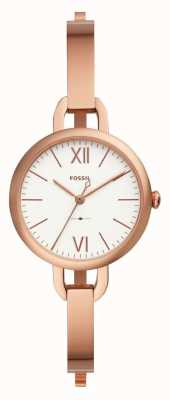 Fossil Womens annette rose gold tone bangle horloge ES4391