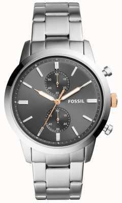 Fossil Herenhorloge herenhorloge roestvrij stalen wijzerplaat FS5407