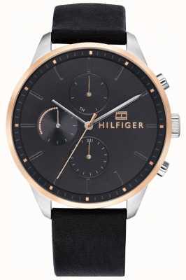 Tommy Hilfiger Herenhorloge chronograaf leren armband 1791488