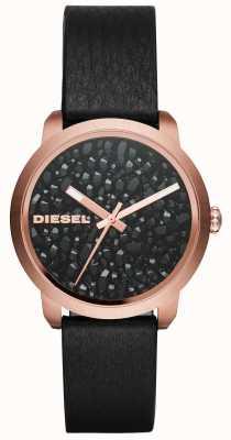 Diesel Womens flare rocks lederen band DZ5520