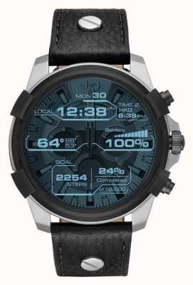 Diesel Lederen horlogeband met display DZT2001