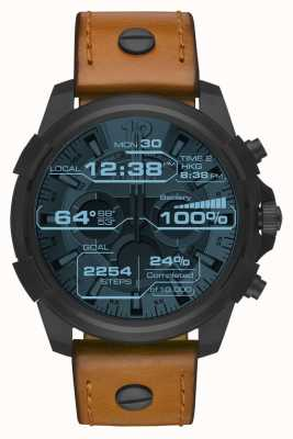 Diesel Lederen horlogeband met display DZT2002