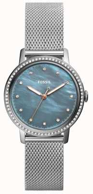 Fossil Womens neely roestvrij stalen mesh band ES4313