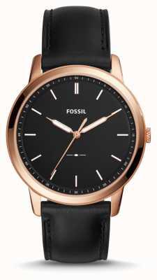 Fossil Mens de minimalistische lederen riem FS5376