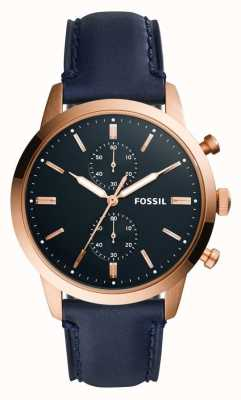 Fossil Heren 44 mm townsman lederen band FS5436