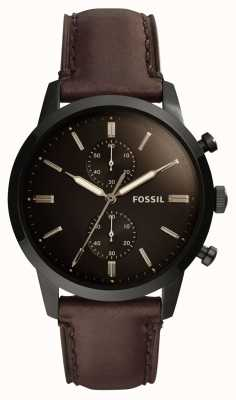Fossil Heren 44 mm townsman lederen band FS5437